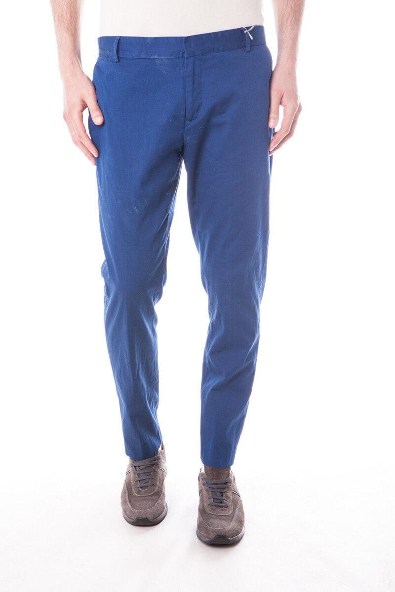 Pantaloni Daniele Alessandrini Jeans Trouser MADE IN ITALY men blue P3193N673