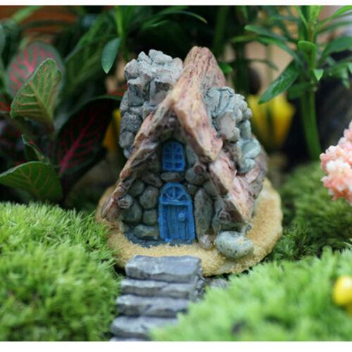 Maison en pierre fée jardin miniature artisanat micro paysage décoration 9H