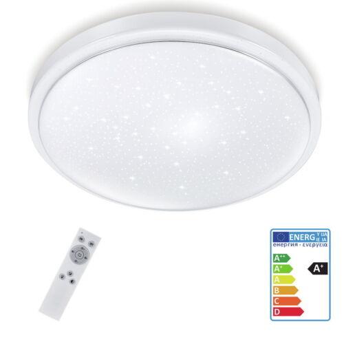 24W LED Deckenleuchte Dimmbar Sternen Lamp Küch Deckenlampe Wohnzimmer Flur IP40
