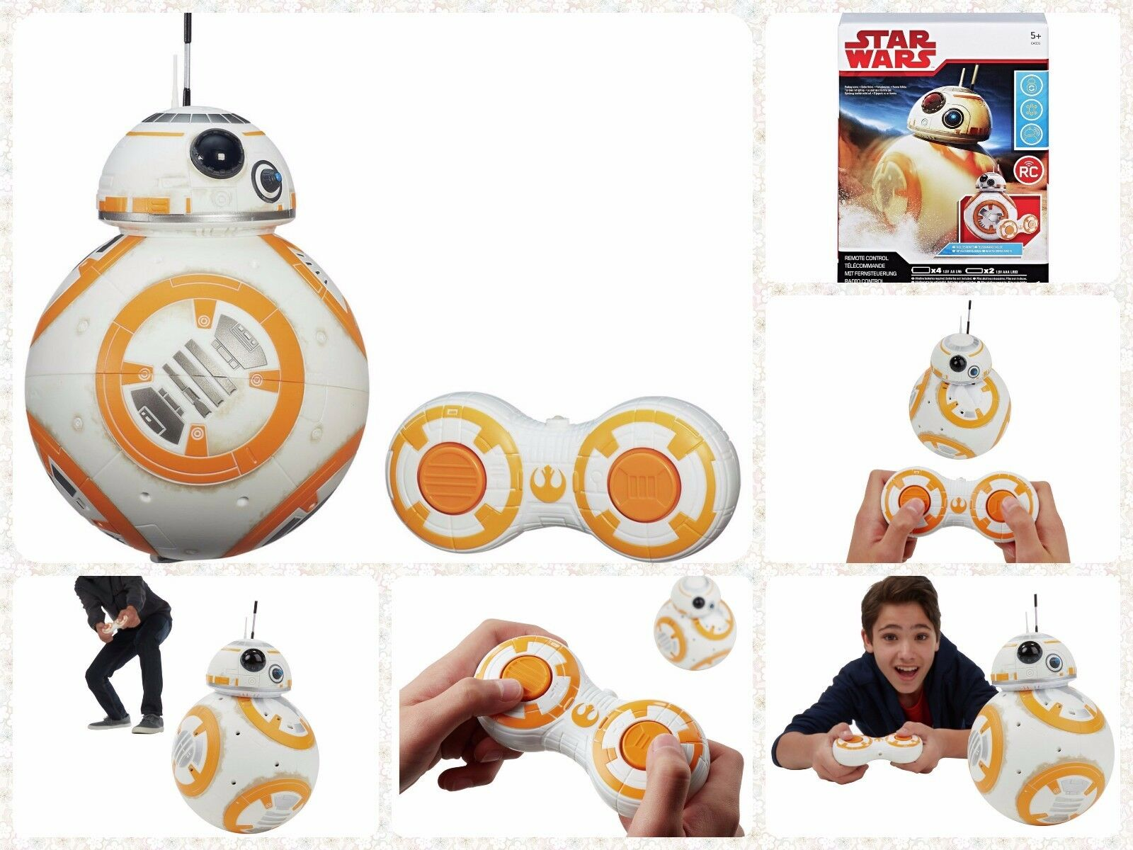 Star Wars The Force si sveglia telecomando Robot RC DROID Natale Regalo Bambini