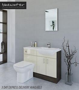 Perfect LIGHT GREY  MALI WENGE BATHROOM FITTED FURNITURE 2100MM  EBay