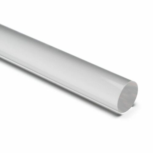 "Acrylic Rod 1"" Diameter 12/"" Long CLEAR For DIY, Craft,..."