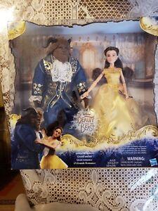 DISNEY BEAUTY AND THE BEAST LIVE ACTION DOLLS Grand Romance Belle Beast Set NIB