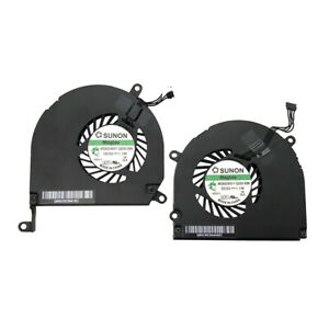 2008, 2009, 2010, 2011, 2012 Left and Right Side CPU Cooling Fan Assembly For Apple MacBook Pro 15 A1286