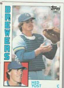 FREE-SHIPPING-MINT-1984-Topps-107-Ned-Yost-Brewers-PLUS-BONUS-CARDS