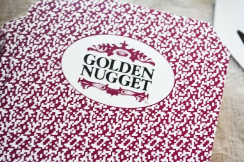 cancelled sealed complete BEE 1 deck of GOLDEN NUGGET LAS VEGAS CASINO CARDS
