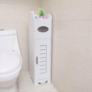 Pure-Wooden-Bathroom-Cabinet-Shelf-Cupboard-Bedroom-Storage-Unit-Free-Standing