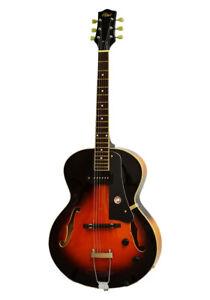 Alden AD-150 Jazz Archtop Guitar P90 Hollow Body Vintage Sunburst Electric