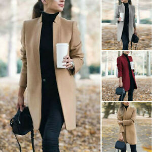Women-Coat-Lapel-Wool-Overcoat-Winter-Long-Trench-Parka-Jacket-Warm-Slim-Outwear