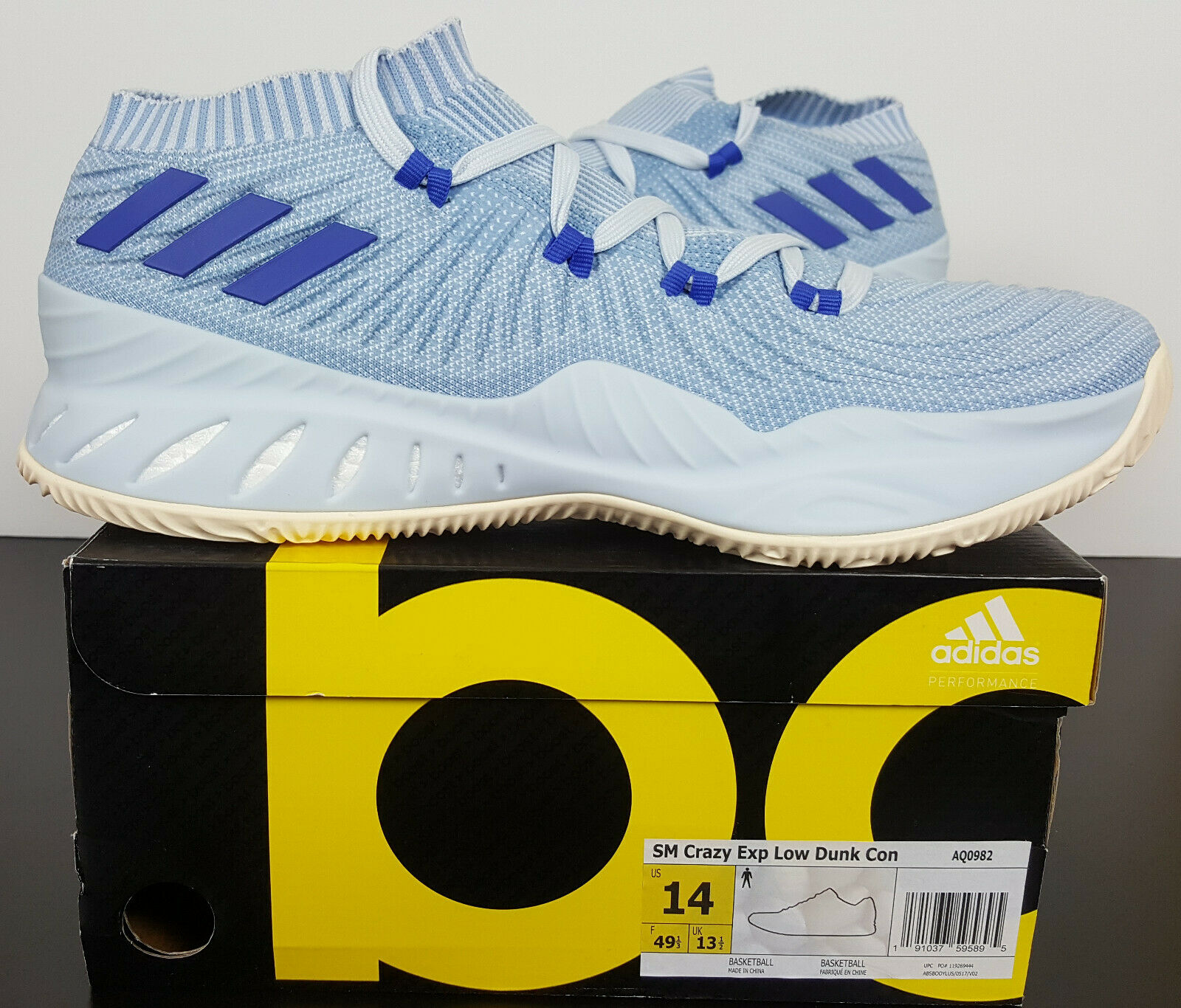 ADIDAS CRAZY EXPLOSIVE LOW DUNK CONTEST BASKETBALL blueE NEW AQ0982 (SIZE 14)