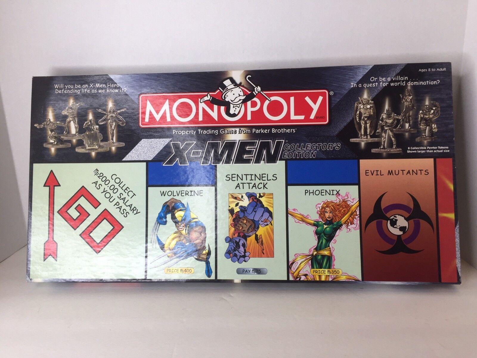 Monopolio Marvel Xmen Collectors Edition Juego De Mesa Wolverine Phoenix mutantes