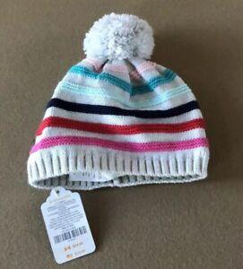 Gymboree Baby Stripe Pom Pom Hat