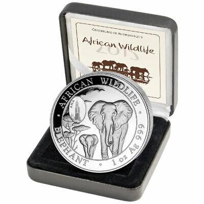 BINo 2015 Somalia Republic African Wildlife Elephant 1 oz .999 SILVER