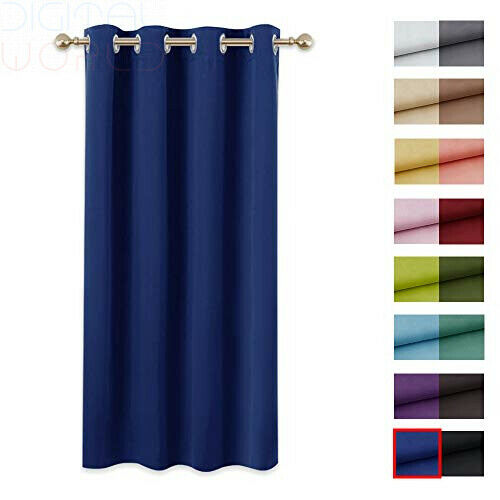 "PONY DANCE Blackout Curtain 54 Drop Navy Blue W 52/"" x L 54/"" 1 Panel"