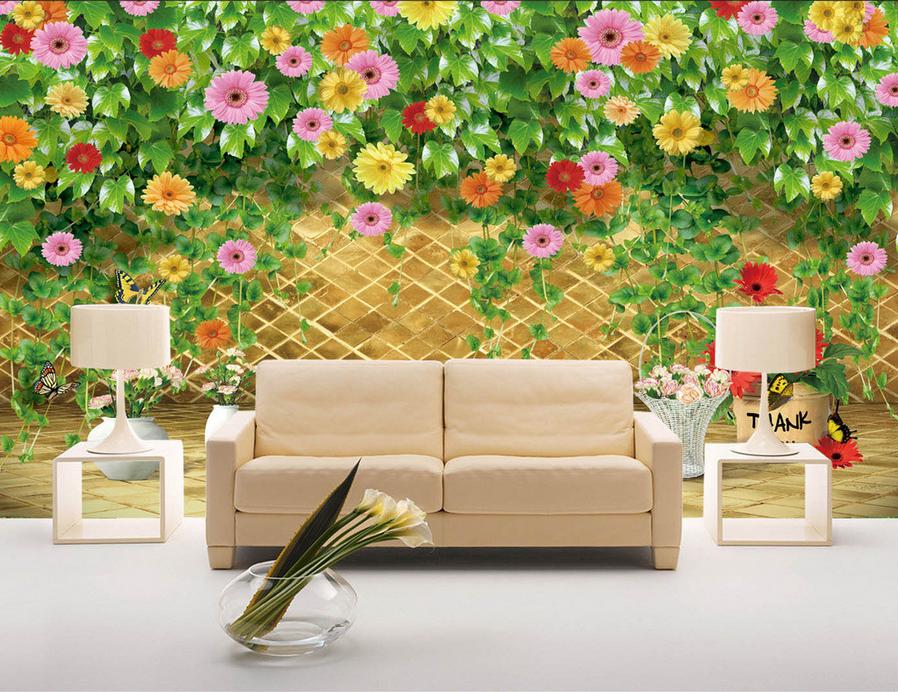 3D Zaun Grüne Rebe 743 Tapete Wandgemälde Tapete Tapeten Bild Familie DE Summer