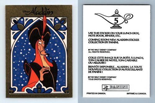Jafar #5 Disney/'s Aladdin 1993 Panini Sticker