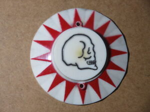 Pinball machine Stern Dracula pop bumper cap skull red sunburst