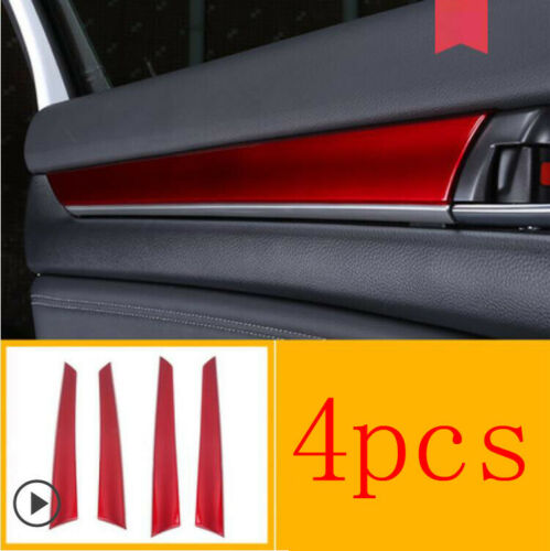 For Honda Accord 2018 2019 Red Car Interior Door Stripe Decoration Cover Trim