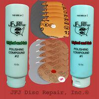 1 Compound 1 + 1 Compound 2 12oz + 10 Soft & 10 Coarse Sandpaper Jfj Easy Pro
