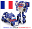 miniature 1 - 12cm Robot Kit Toys Transformers 2 in 1 one Step Deformation JY675A Car Hobby OK