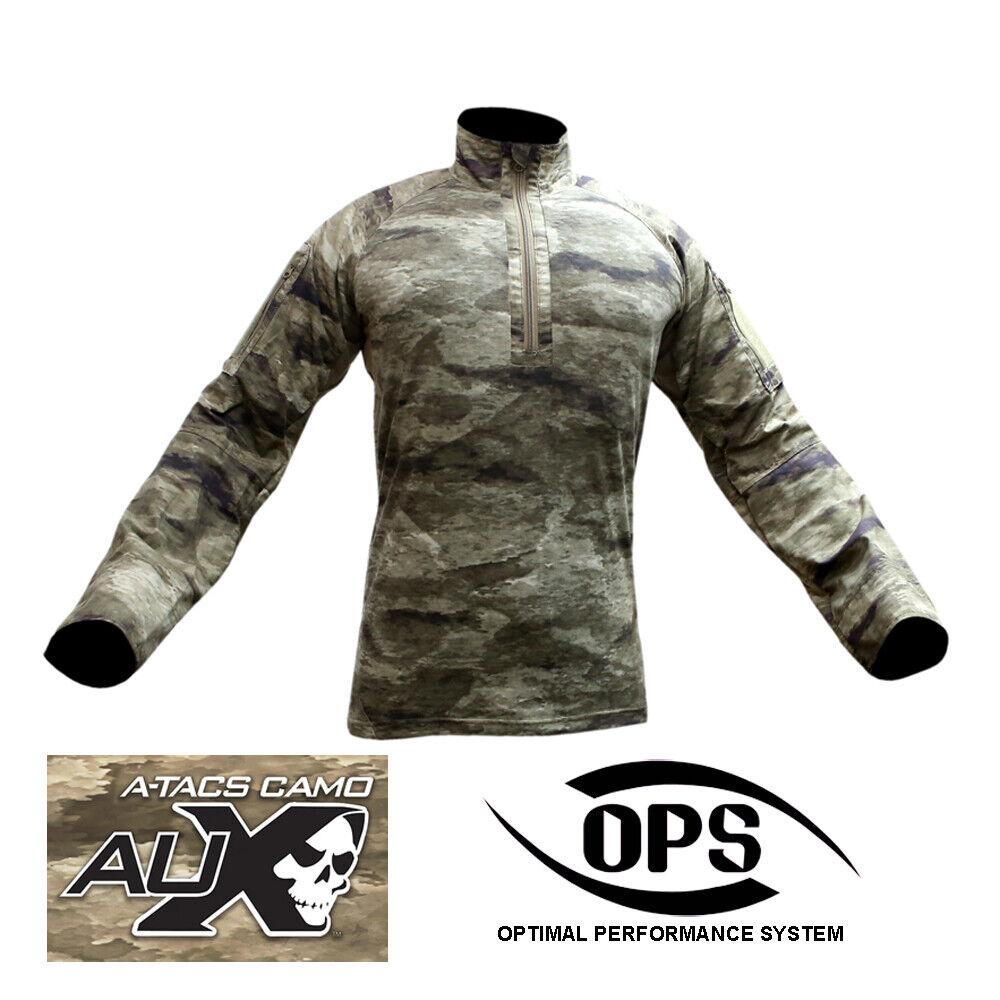Combate GEN3 O.p.s i.d.a Camisa en A-tacs Aux, Nyco extrema, con codo Pads