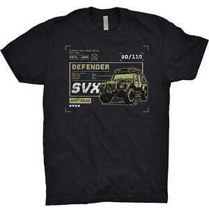 Defender-SVX-T-Shirt-Land-Rover-Off-Road-Truck-Garage-British-UK-Mechanic-Gift