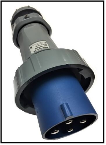 Mennekes me 460p9w male watertight pin sleeve plug 60a 3 pole 4 1 of 1 iec 60309 460p9w 3 phase 4 wire 60 amp 260 volt plug sciox Image collections