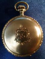 1890 AMERICAN WALTHAM MODEL 1883 14 K SOLID GOLD GILT POCKET WATCH 7 JEWELS
