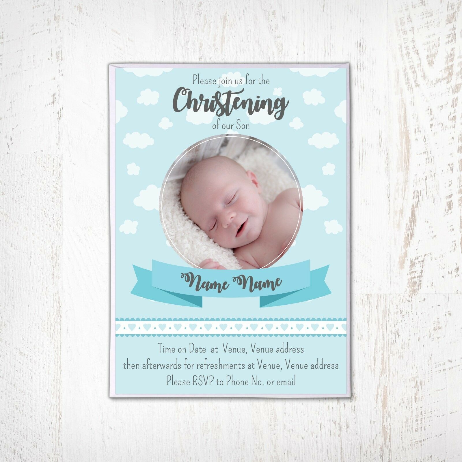 Christening Invitation Baptism Naming Day Baptism Invitation