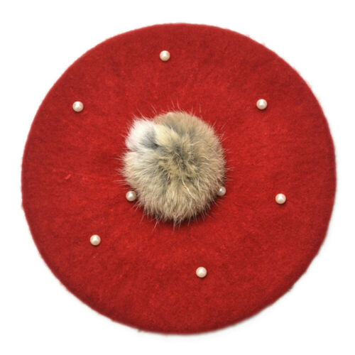 Infant Toddler Baby Hats Kids Boys Girls Pearly Ball Beanie Winter Warm Hat Cap