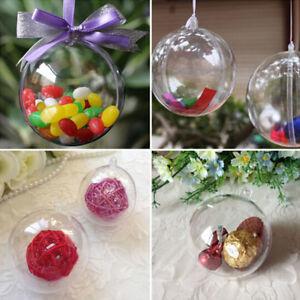 5-10x-boules-noel-sapin-Decoration-sphere-plastique-fete-ornement-transparent-BR