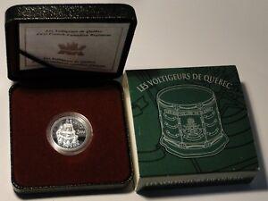 Proof-2000-First-French-Canadian-Regiment-Les-Voltigeurs-de-Quebec-5-cent-silver