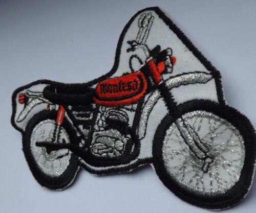 Old OG Vtg 1970`s Shaped Large Embroidered Patch Motorcycle MONTESA HONDA