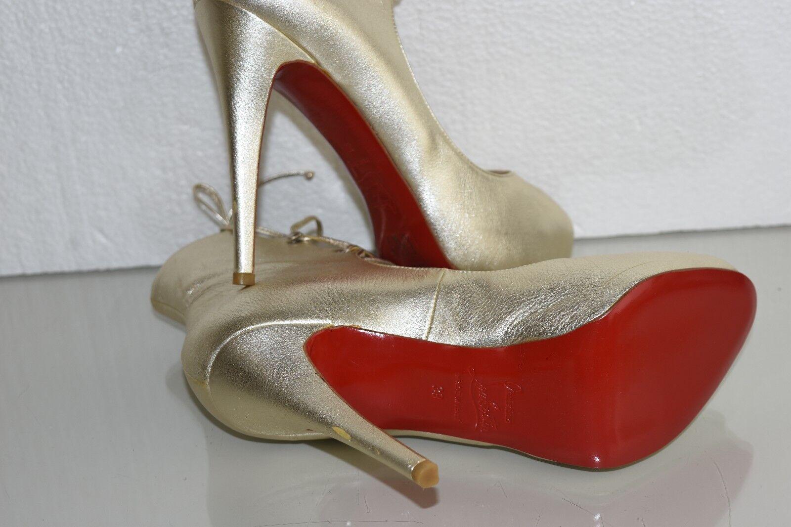 Neu Neu Neu Christian Louboutin Juste 120 Leder Stiefel Hells Sahara Goldschuhe 39 0e66bc