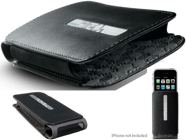 Belkin Slim Leather Holster Case w Belt Clip for iPhone 4S iPhone 3G S Black
