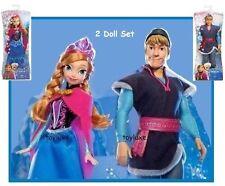 "Disney Frozen SPARKLE Kristoff & Anna Arendelle Princess 2 Doll 12"" Bundle Set !"