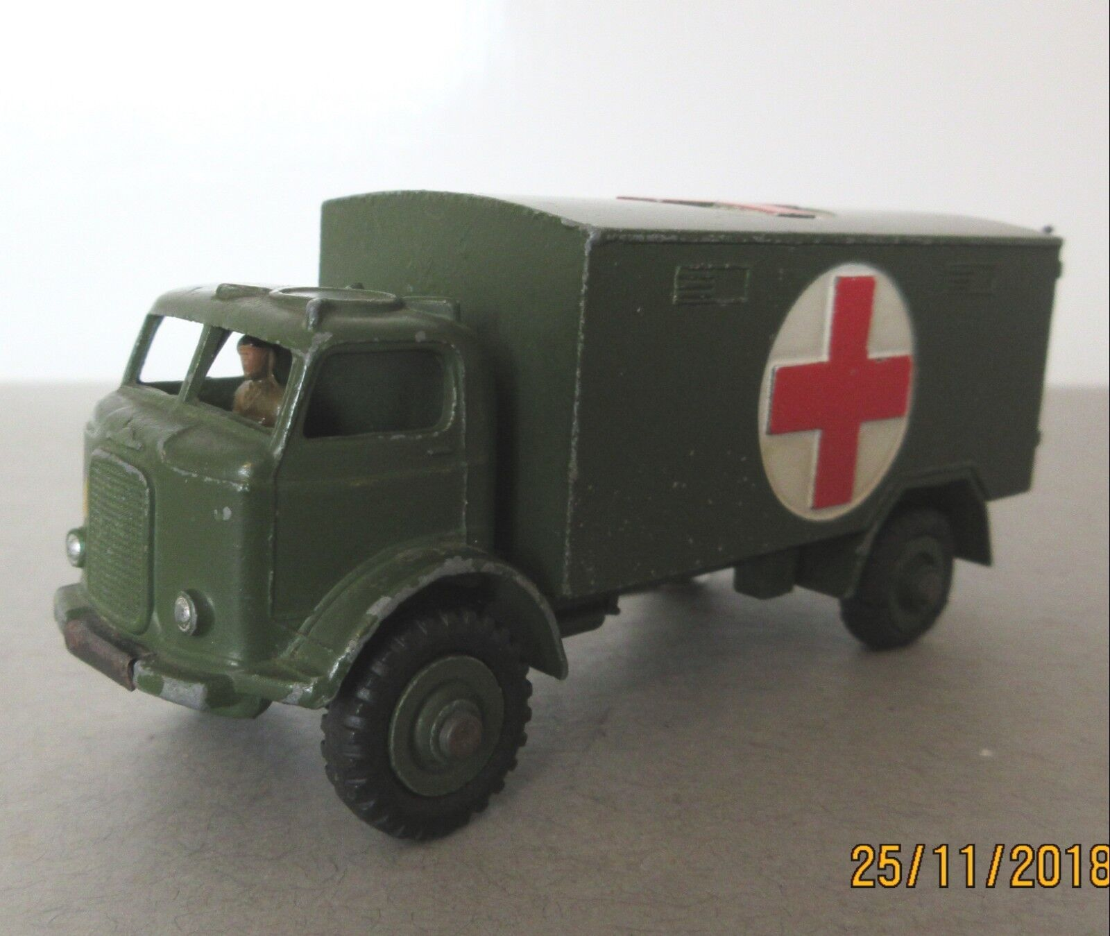 Dinky Toys Fordson Army Military Ambulance -1950's Post War Military Dinky Toy