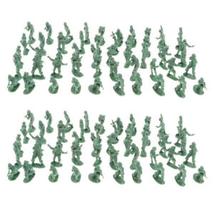 200PCS-2cm-Army-Green-Army-Men-Soldiers-Toy-Battlefield-Military-Kit-Playset