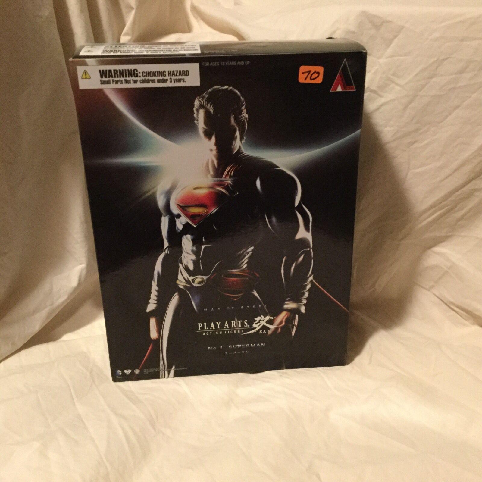 Play Arts  Kai Square Enix Man of Steel Superhomme En parfait état, dans sa boîte scellée  parfait