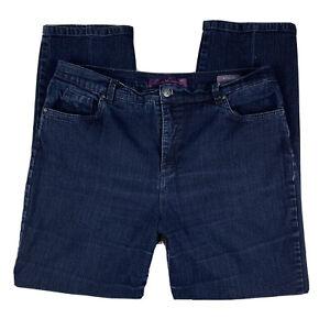 GLORIA-VANDERBILT-Women-16-Pants-Slacks-Jeans-Amanda-Straight-Leg-Pockets-Blue