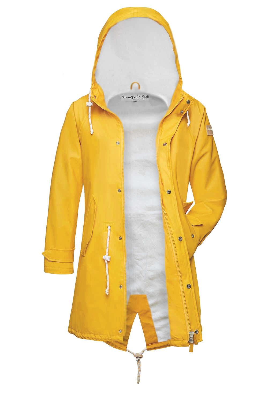 Amundsens Fjell Ladies Raincoat Hedda Ice Parka Friese Yellow Fur Lined
