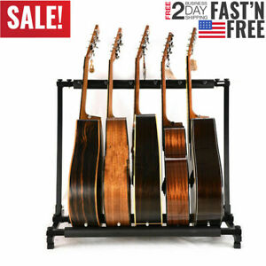 5-Guitar-Rack-Stand-Folding-Five-Multiple-Stage-Storage-Bass-Holder-Mount-DJ