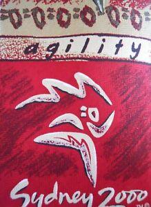 Davenport-Sydney-2000-Olympics-Tie-Novelty-Mens-Silk-Necktie-Agility-Power-Speed