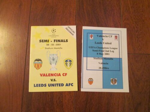 2001 CHAMPIONS LEAGUE SEMIFINAL VALENCIA v LEEDS UNITED RARE PIRATE ISSUE