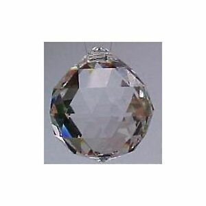 New 20mm Clear Asfour Crystal Hanging Faceted Ball Prism