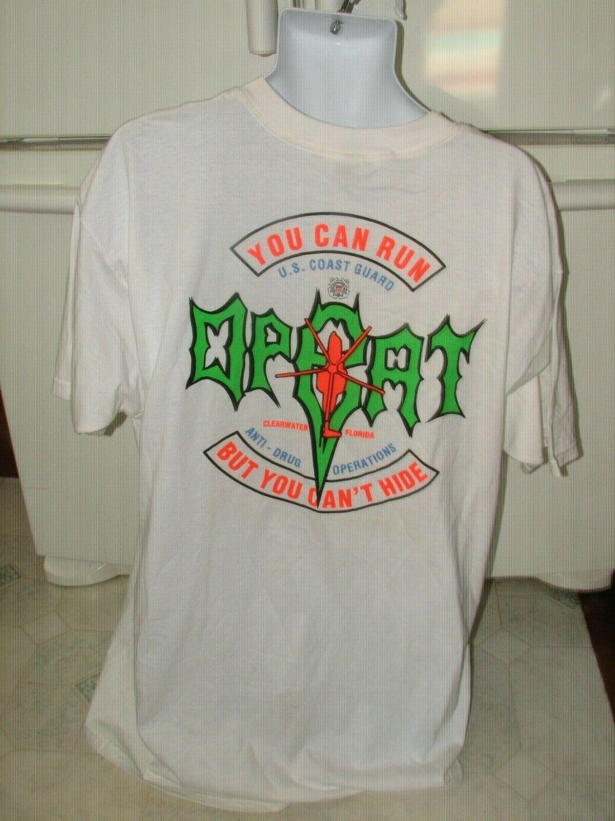 U.S. Coast Guard Anti Drug Operations Florida OPBAT t shirt Men's 2XL New
