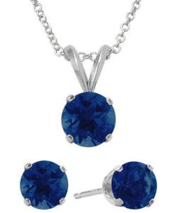 6mm SWAROVSKI® Elements Sapphire Solitaire Pendant & Earring Set