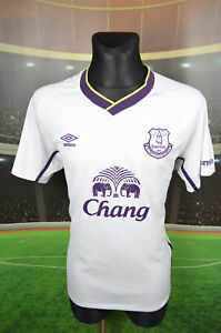 EVERTON-UMBRO-NEON-FOOTBALL-SHIRT-XL-JERSEY-TOP-TRIKOT-CAMISETA-XLARGE-WHITE