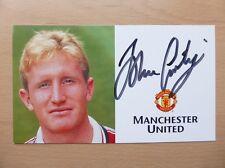 1998-00 John Curtis Signed Man Utd Treble Season Club Card (4229)