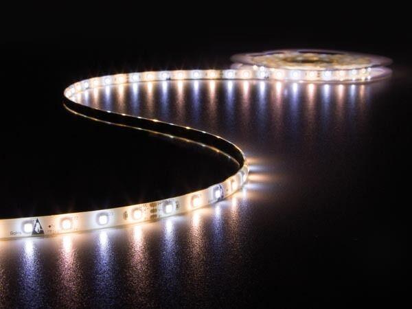 FLEXIBLE 300 LED 12V 5m white CHAUD ET FROID AVEC TELECOMMANDE + ALIMENTATION